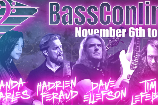 BassCon Online Returns Nov 6-8 with Hadrien Feraud, Yolanda Charles, Tim Lefebvre, and David Ellefson