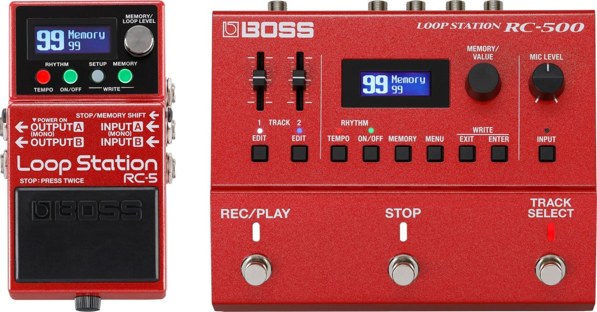 Boss RC-5 and RC-500 Looper Pedals