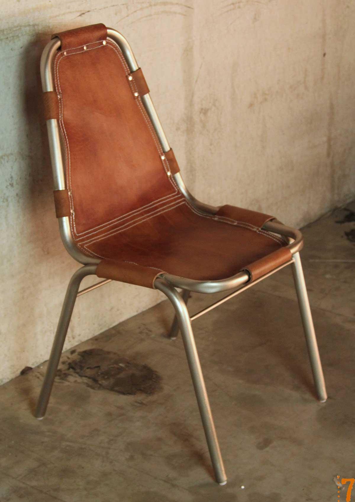 Chaise En Cuir Et Mtal