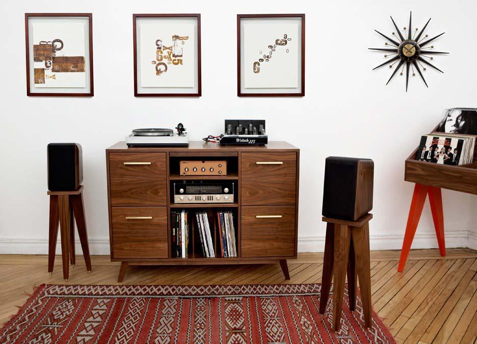 Meuble Hi Fi Vinyle Ouvert Vintage