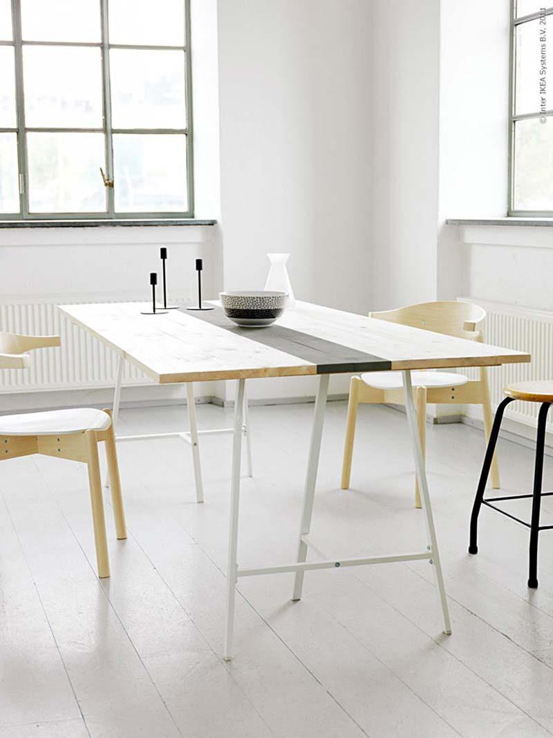 Treteaux 39 Idees Deco Pour Creer Une Table Ou Un Bureau