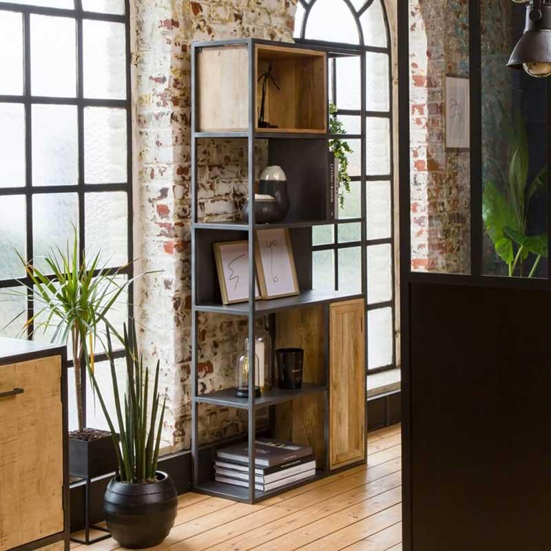 bibliotheque industrielle 30 etageres
