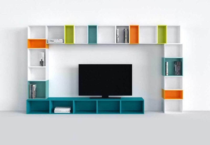meuble tv bibliotheque 19 idees deco