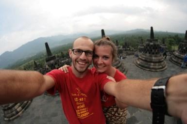 Choupi et Tibal à Borobudur