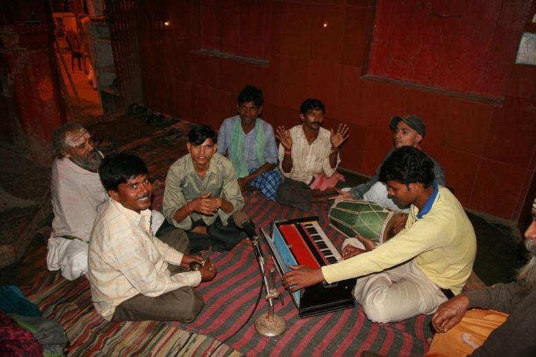 Musiciens dans le temple