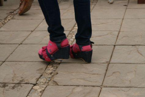 Nu pieds chaussettes