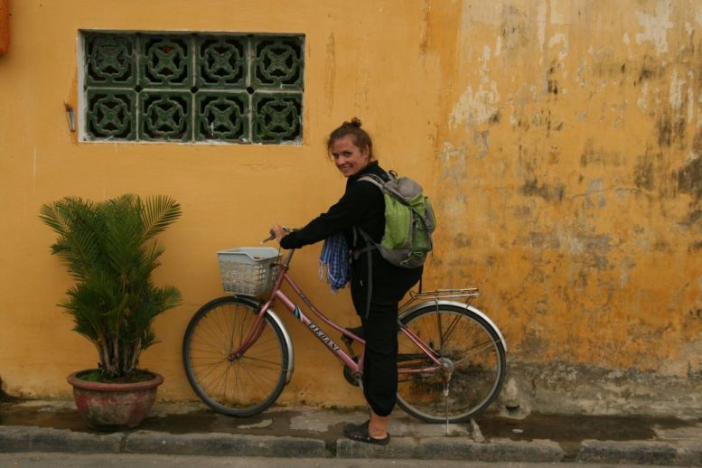 Choupi en vélo