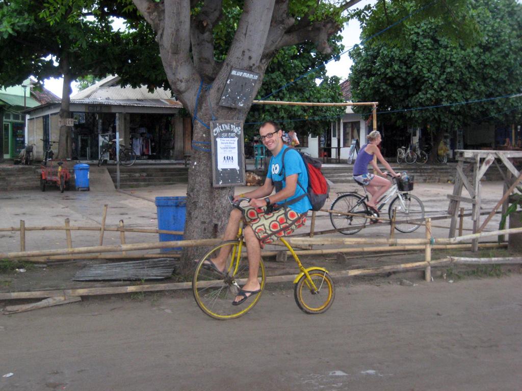 Tibal et son nouveau vélo