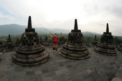 Jump à Borobudur