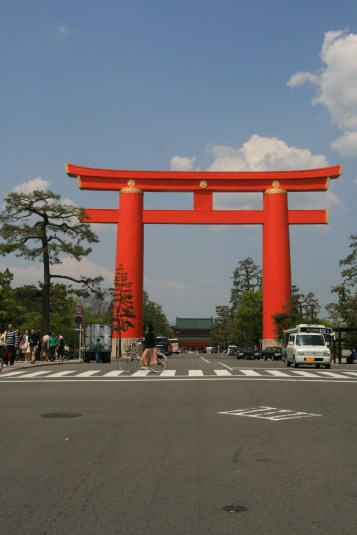 Torii en plein Kyoto