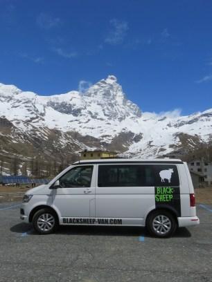 Mont Cervin et notre van