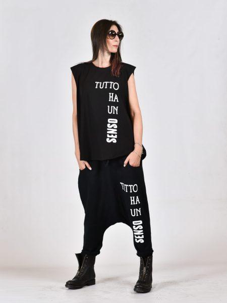 Pantalone turca in felpa