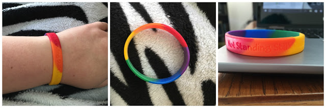 three photos at different angles of the bracelet