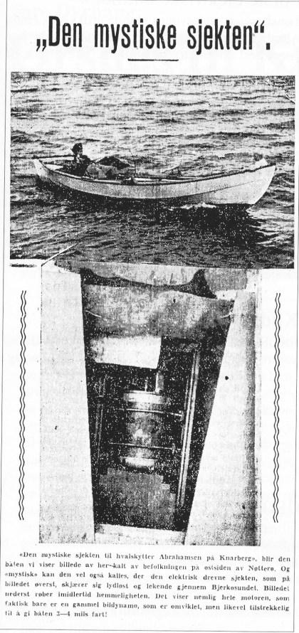 Faksmile fra Tønsbergs Blad 31.juli 1940