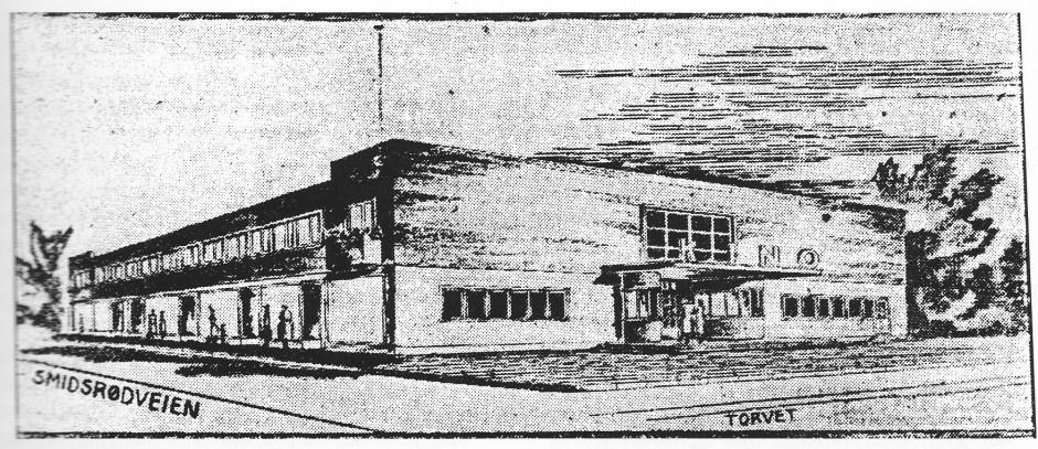 Dette var Thorleif Dahls prosjekt for kino på Teie torv (Nøtterø haveby) med fasade mot Torvet og Smidsrødveien, temmelig nøyaktig der Nøtterø Sparebank har sitt hovedbygg i dag.