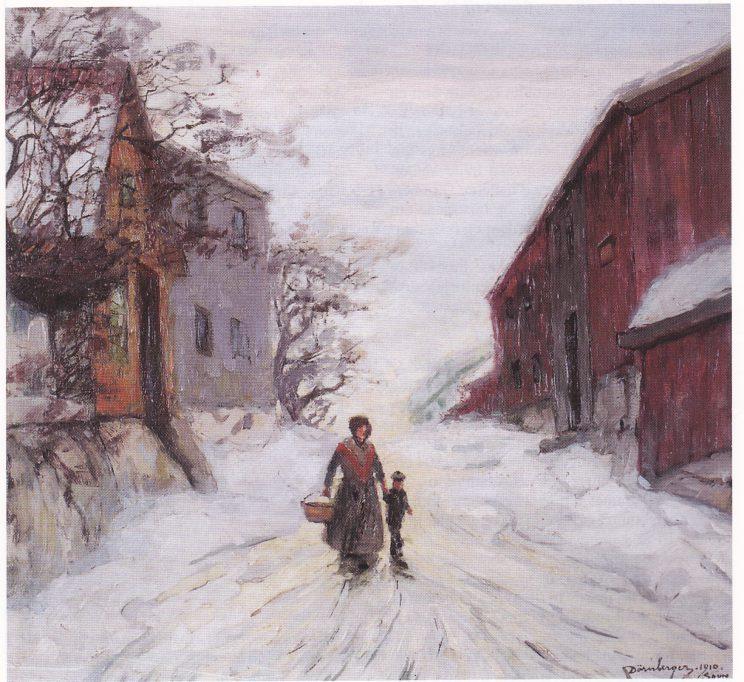 Dørnberger: N.del av Anders Madsensgt, 1888-1910, Tønsberg Kunstforening