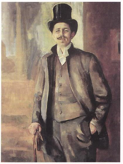 Edvard Munchs portrett av Dømberger. Museum der Bildenden Künste, Leipzig.