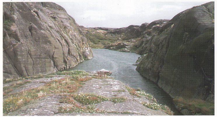 Innsjøen syd på Store Færder er ca. 100 meter lang.