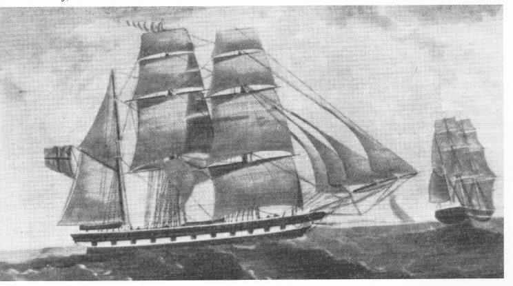 Bark «Feronia» bygd i Tokeneskilen 1857 er det største seilskipet som er bygd på Nøtterøy. Forliste i 1864 i Nordsjøen.