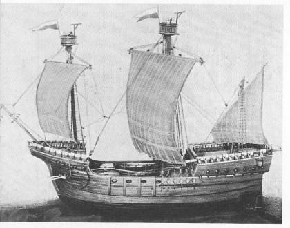 Modell av Hansakogge. Foto fra Vigeland: Norsk seilskipsfart erobrer verdenshavene.