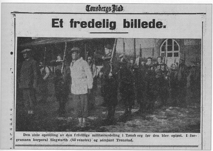 Faksimile av Tønsbergs Blad 10. april 1940.