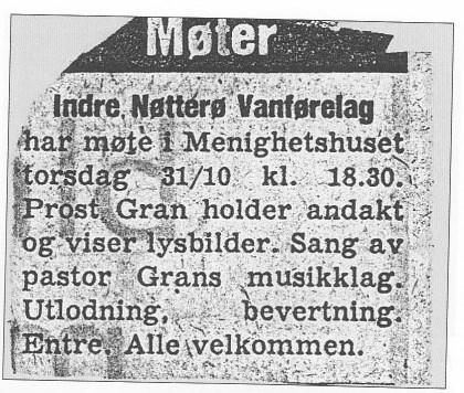 Annonse Tønsbergs Blad.