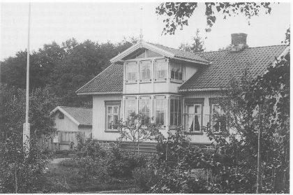 Urmaker Kranstads hus i Ørsnesveien 33 fra nord. Foto utlånt av Yngve Kranstad.