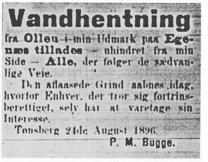 (Annonse i Tønsbergs Blad 1895).