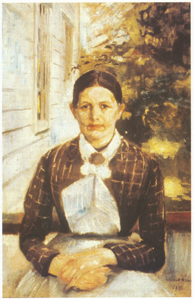 Kunstnerens tante, Karen Bjølstad, malt 1888 i Vrengen. Tilhører Munchmuseet