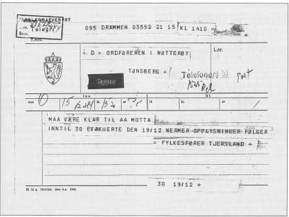 Partiet Nasjonal Samling hadde siden høsten 1940 ansvar for den sivile lokalforvaltning i Norge -innen de rammer tyskerne tillot. NS ville gjerne ha en sosial profil, og tvangsevakueringen var en fin anledning for partiet til å engasjere seg i hjelpearbeidet.