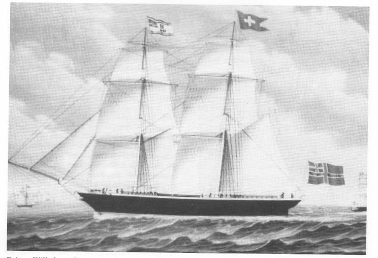 Brigg «Wilhelm Tell» (Foto Rune Sørlie - Fylkesmuseet)