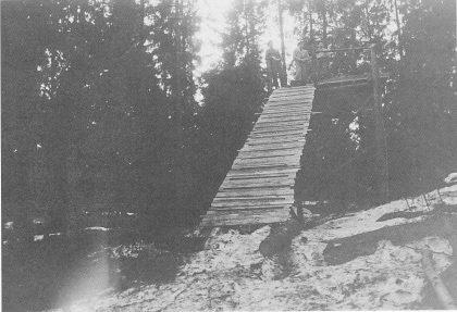 Stillaset i Kikutbakken, fotografert i mars 1938.