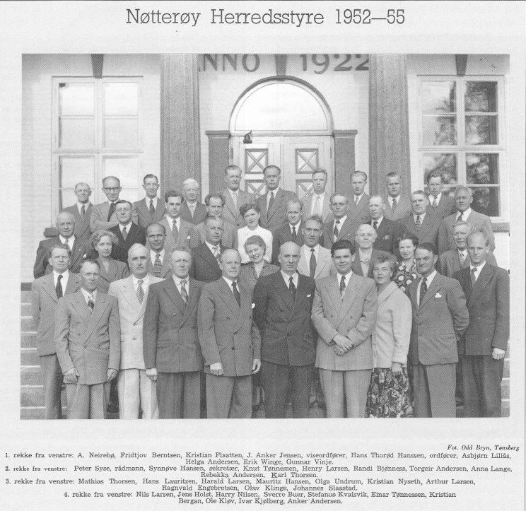 Nøtterøy Herredsstyre 1952-55