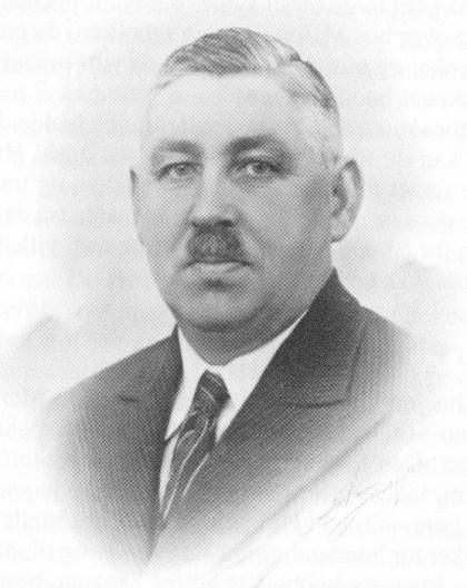 Anton Andersen — fader Anton — slakter Andersen, formann i de torvførendes forening. (Foto utlånt av Astri Andersen.)