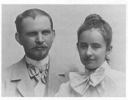 Otto Valstad og Mathilde Christiansen. (Foto utlånt av Asker Museum)