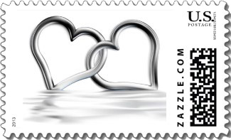Entwined Silver Hearts St This Love Wedding Invitation