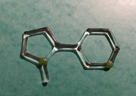 Nicotine molecule - made of glass