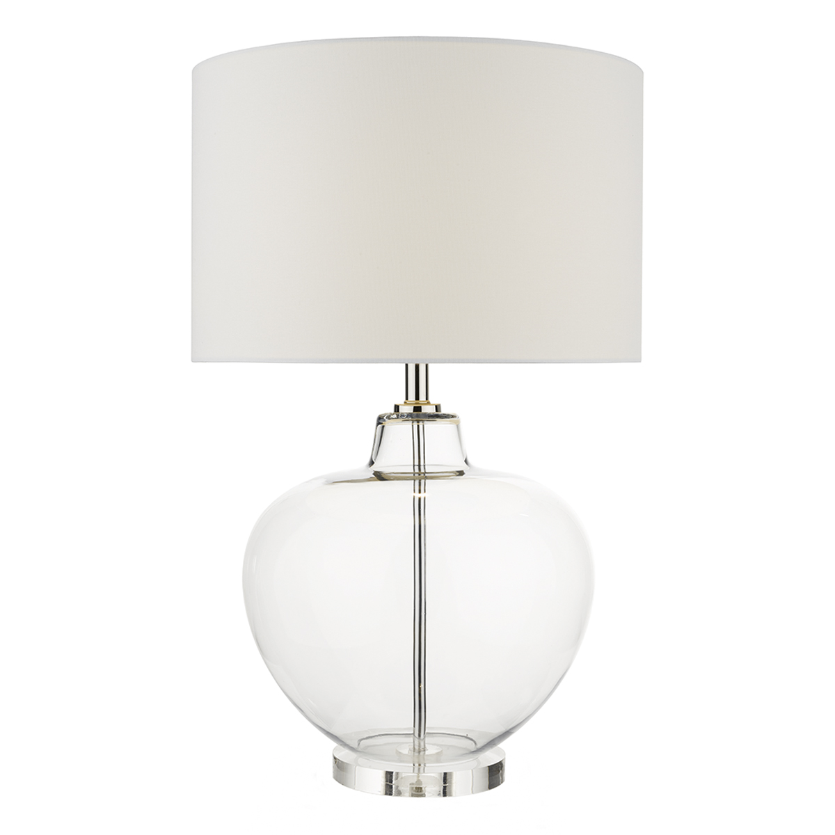 Moffat Table Lamp Base Only Clear Glass Nottingham Lighting Centre