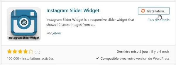 Instagram Slider Widget - Installation
