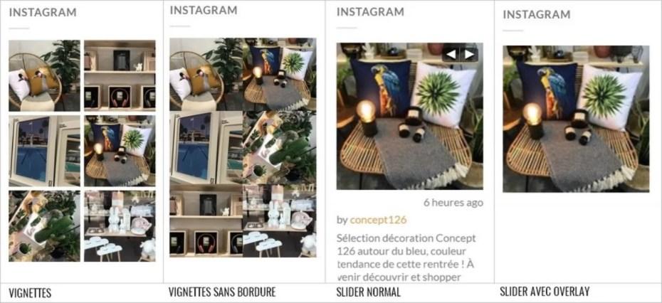 Différentes manières d'afficher ses photos Instagram sur WordPress