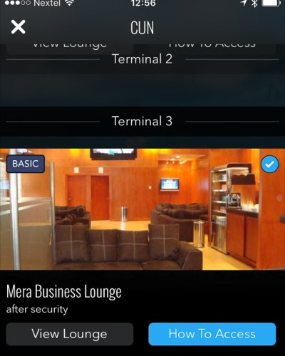 LoungeBuddy app helped me find a lounge while in Cancun.