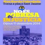 'Nou Barris Cabrejada diu Prou!' es manifesta avui a la plaça de Sant Jaume