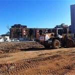 Recta final de l'urbanització de l'illa de Cotxeres Borbó