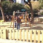 El parc de la Guineueta estrena àrea infantil remodelada