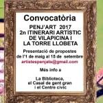 Convocatòria oberta per al certament Penj'art 2017