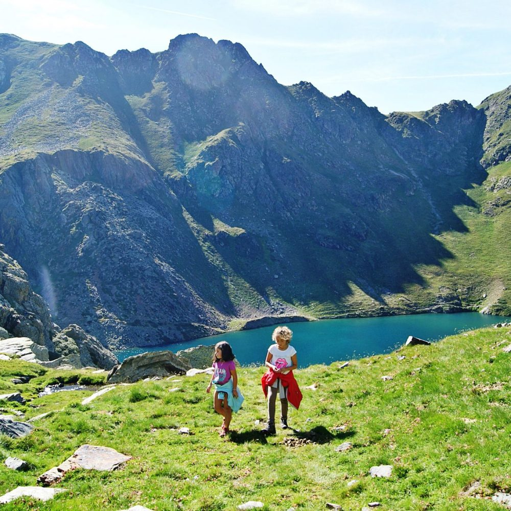 In summer, camping with your little mountaineers