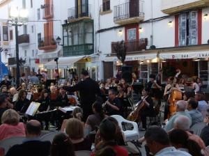 Imatge del concert de un concert de la Banda Simfònica al Mercat Vell. Foto: Patronat de Música d'Eivissa.