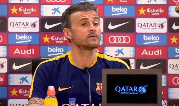 Imagen de Luis Enrique en su etapa como técnico del FC Barcelona