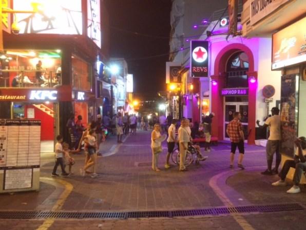 Imagen de las calles interiores del West End.