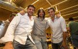 David Reartes, Joan Planells y Jordi Cardona, durante la inauguración. Fotos: Toni Escobar